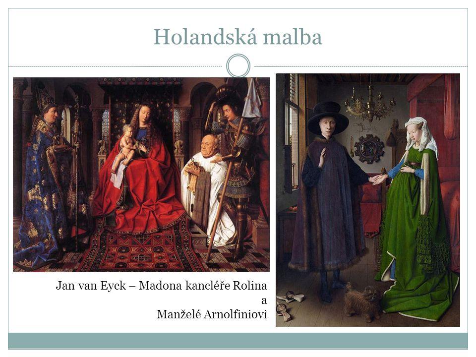 Holandská malba Jan van Eyck – Madona kancléře Rolina a