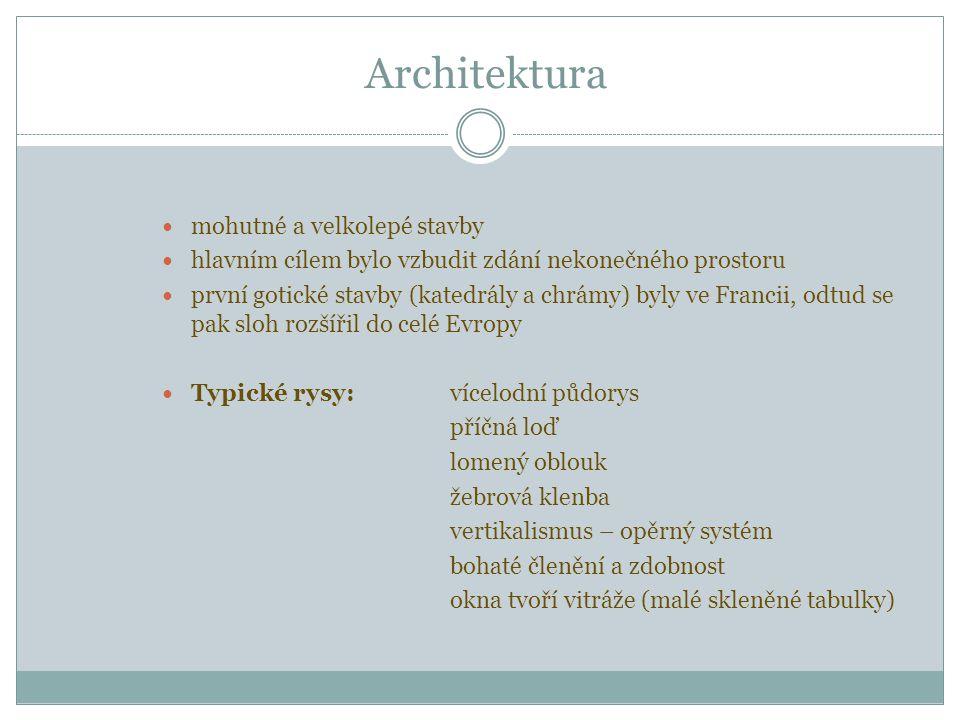 Architektura mohutné a velkolepé stavby