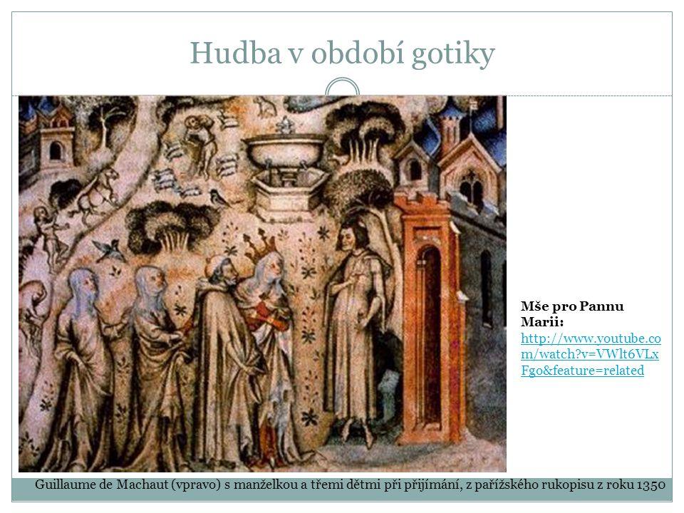 Hudba v období gotiky Mše pro Pannu Marii: