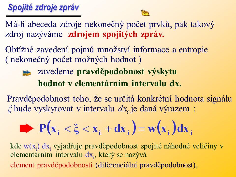 zavedeme pravděpodobnost výskytu hodnot v elementárním intervalu dx.
