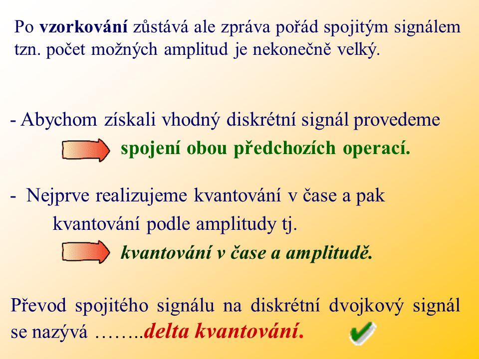 - Abychom získali vhodný diskrétní signál provedeme