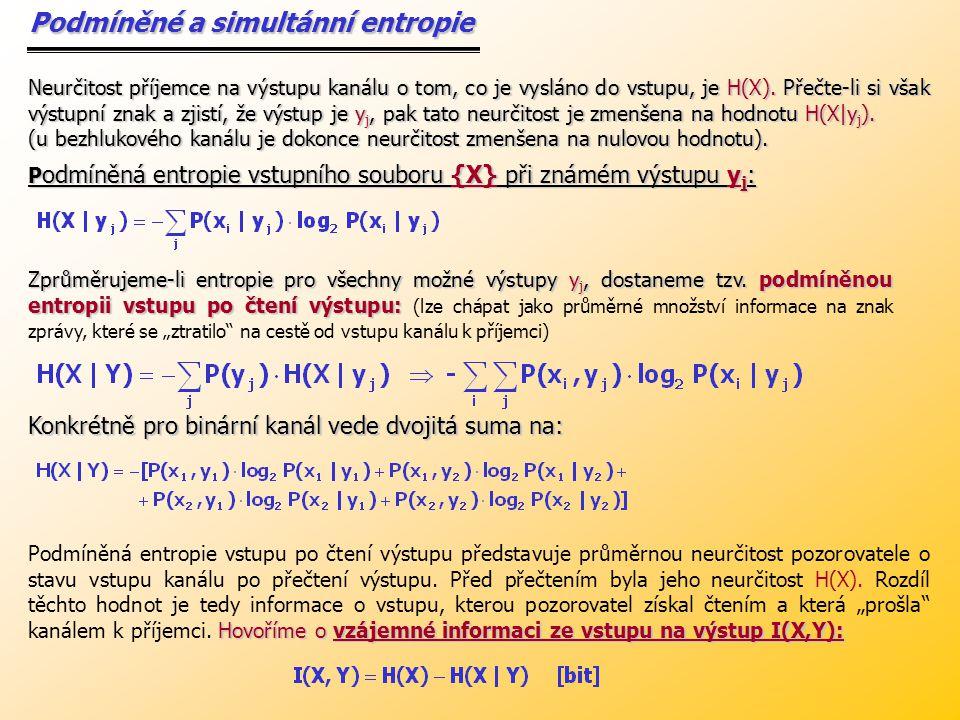Podmíněné a simultánní entropie