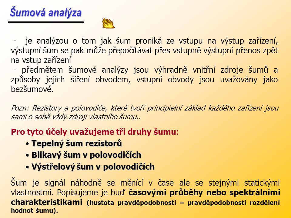 Šumová analýza