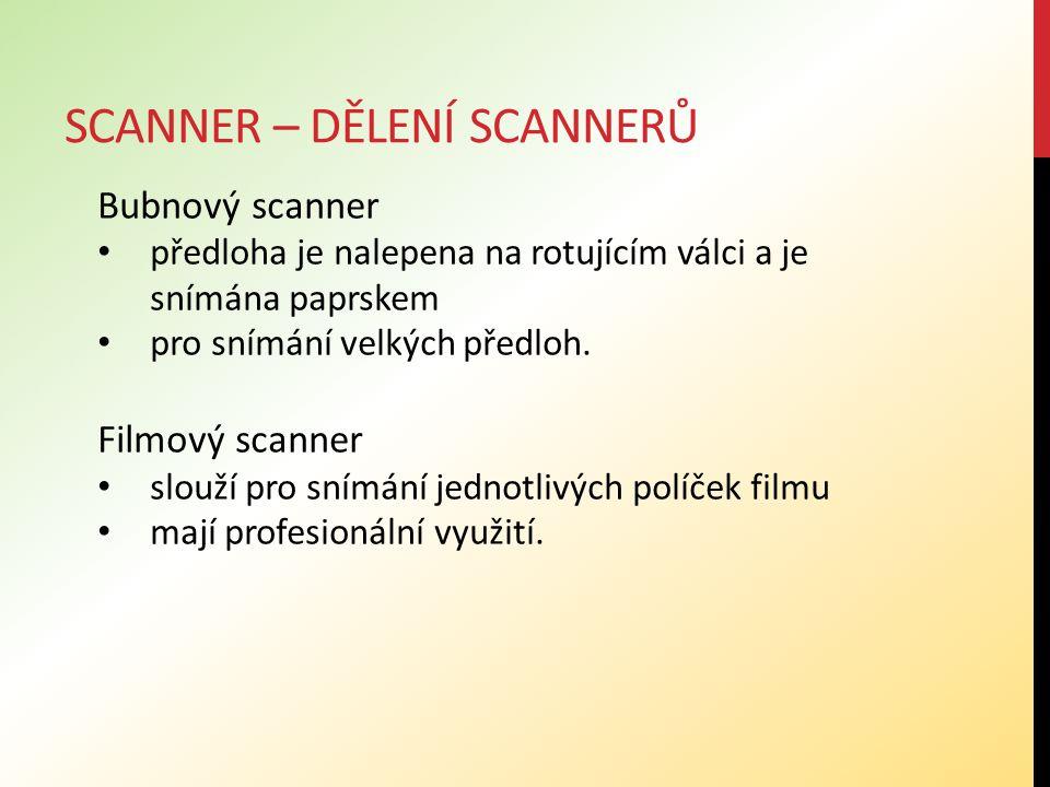 Scanner – dělení scannerů