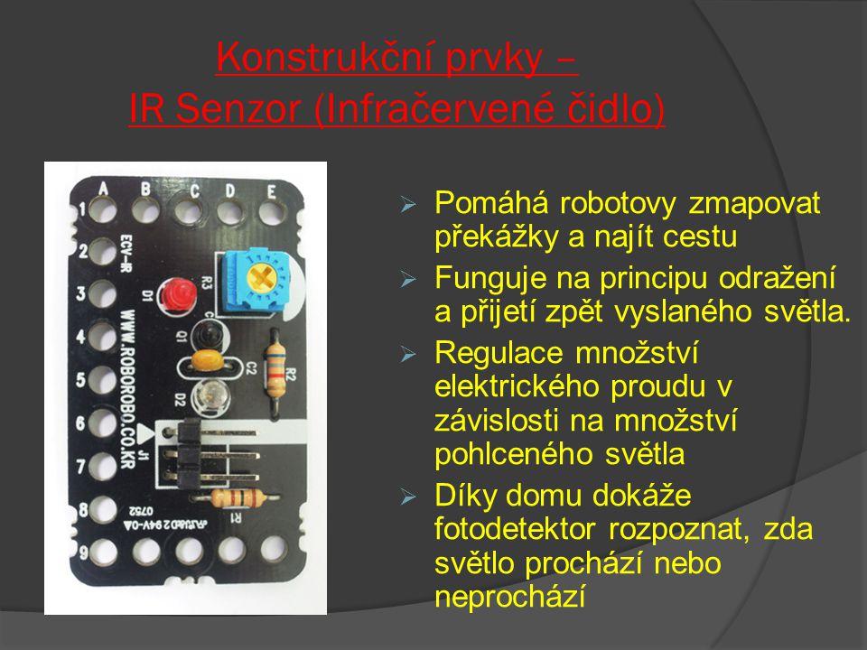 Konstrukční prvky – IR Senzor (Infračervené čidlo)