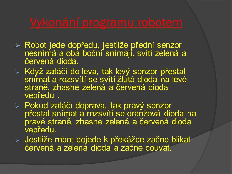 Vykonání programu robotem