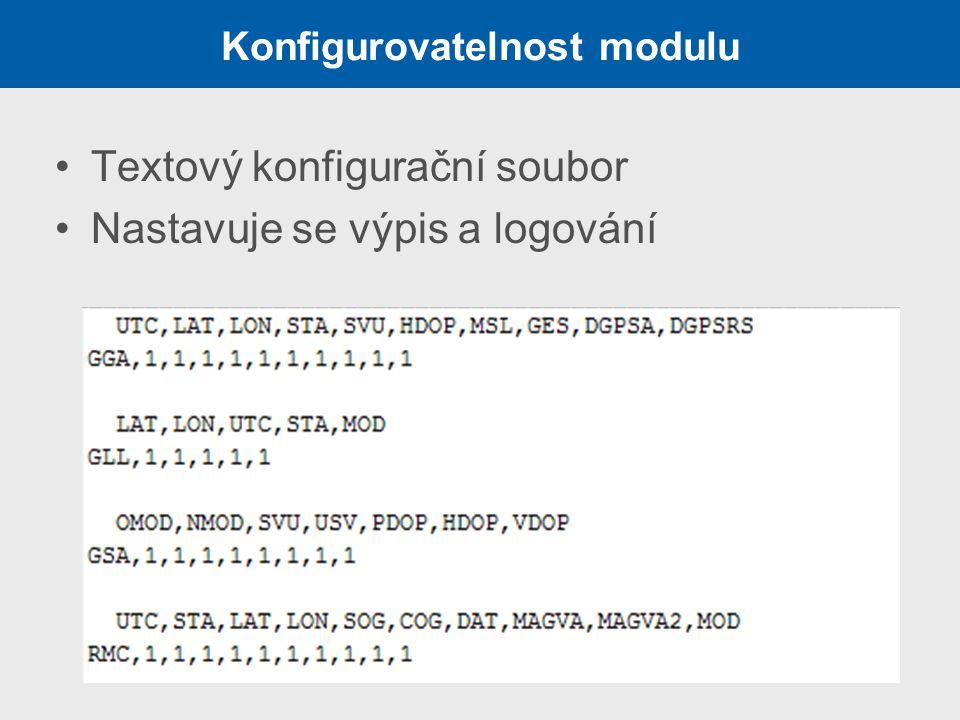 Konfigurovatelnost modulu