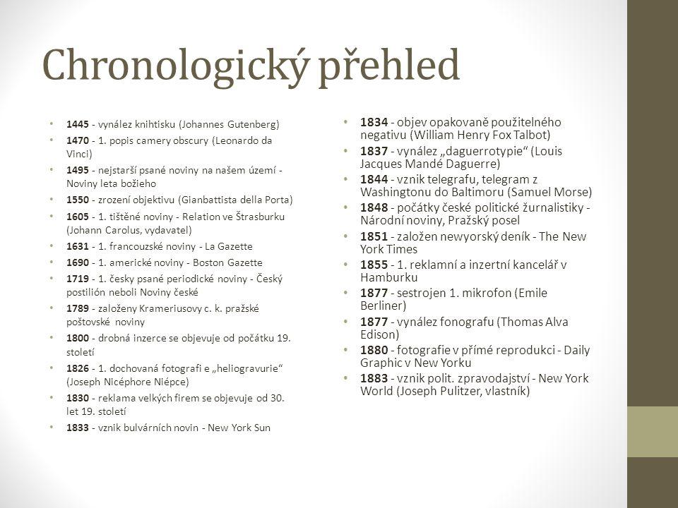 Chronologický přehled