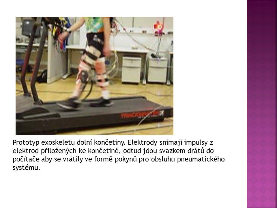 Prototyp exoskeletu dolní končetiny
