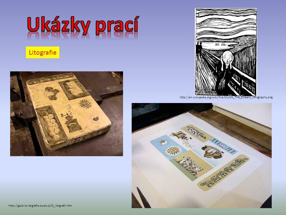 Ukázky prací Litografie