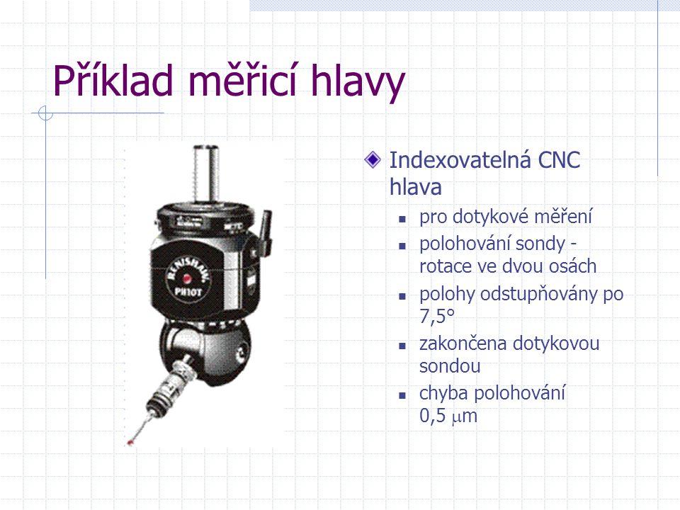 Příklad měřicí hlavy Indexovatelná CNC hlava pro dotykové měření