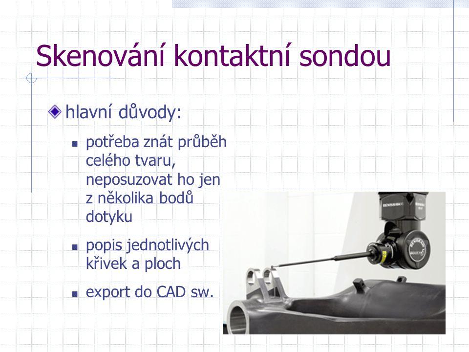 Skenování kontaktní sondou