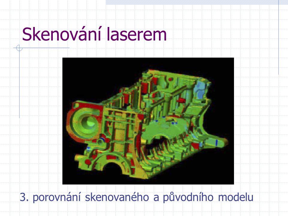Skenování laserem 3. porovnání skenovaného a původního modelu