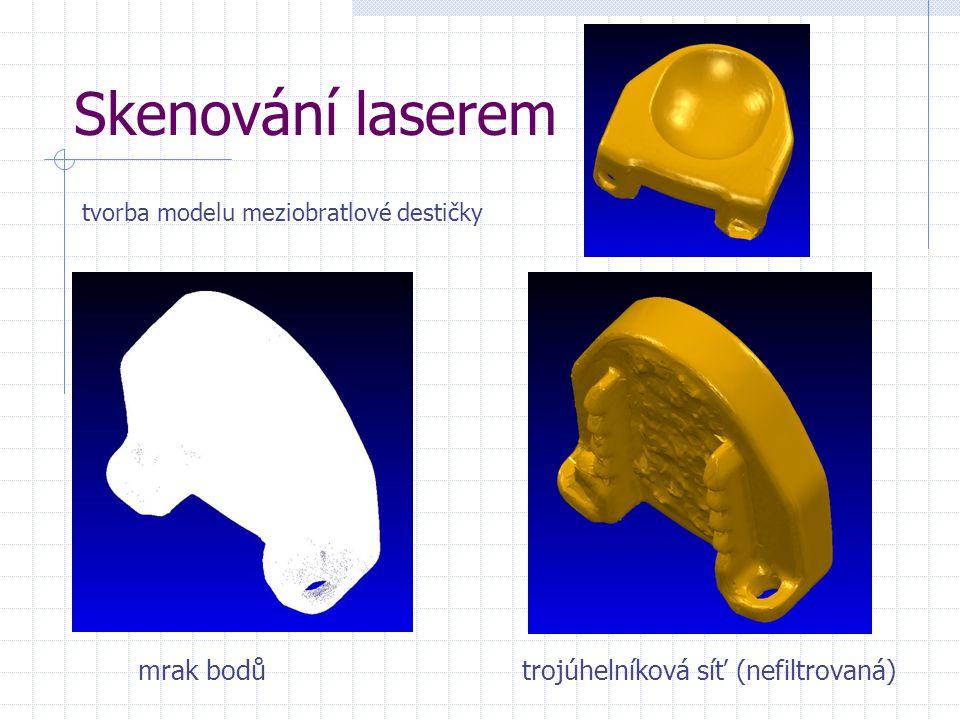 Skenování laserem mrak bodů trojúhelníková síť (nefiltrovaná)