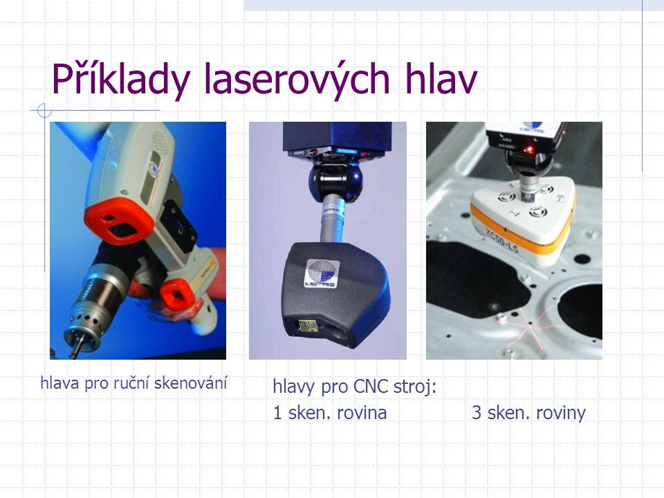 Příklady laserových hlav