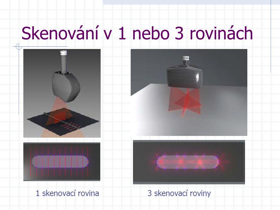 Skenování v 1 nebo 3 rovinách