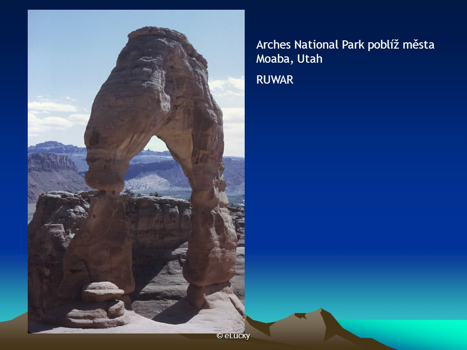 Arches National Park poblíž města Moaba, Utah RUWAR