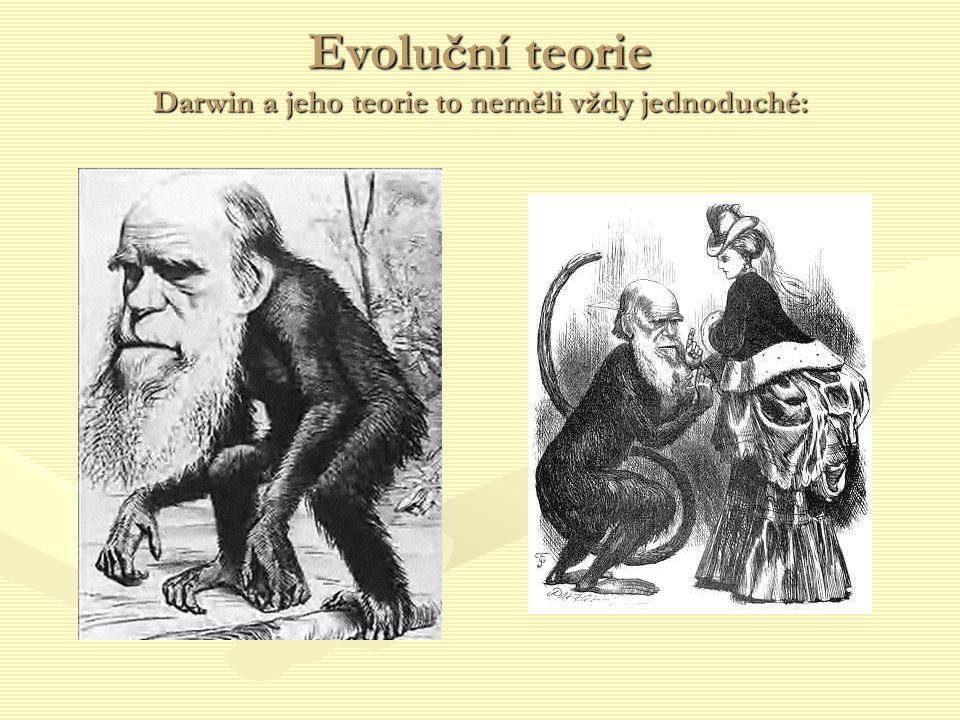 Evoluční teorie Darwin a jeho teorie to neměli vždy jednoduché: