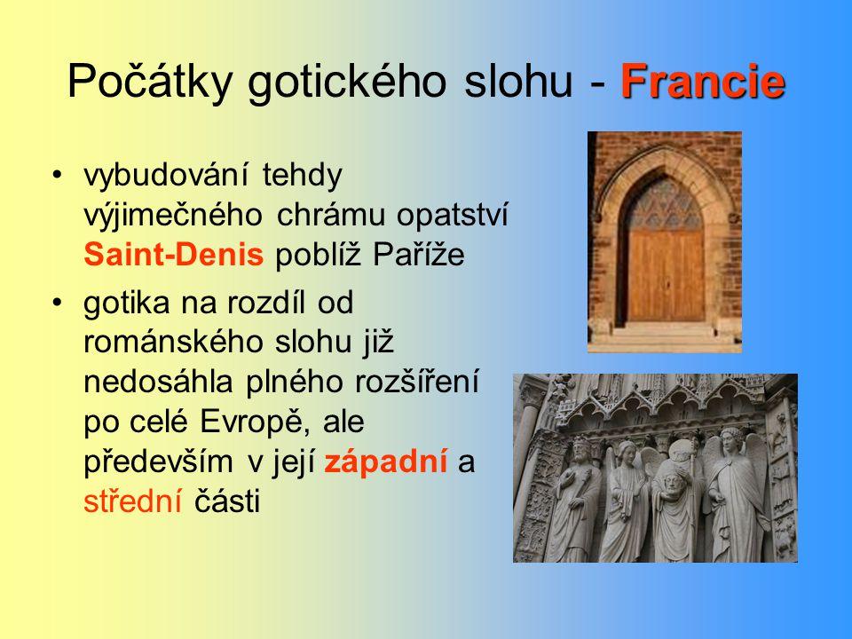 Počátky gotického slohu - Francie