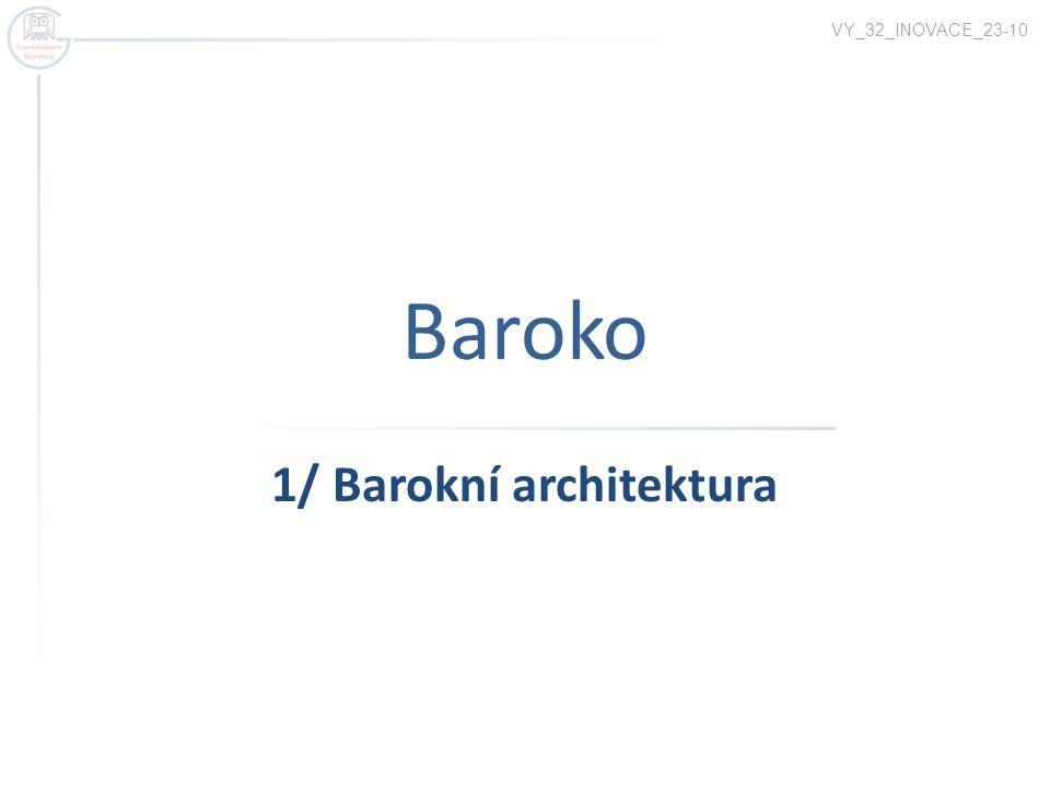 1/ Barokní architektura