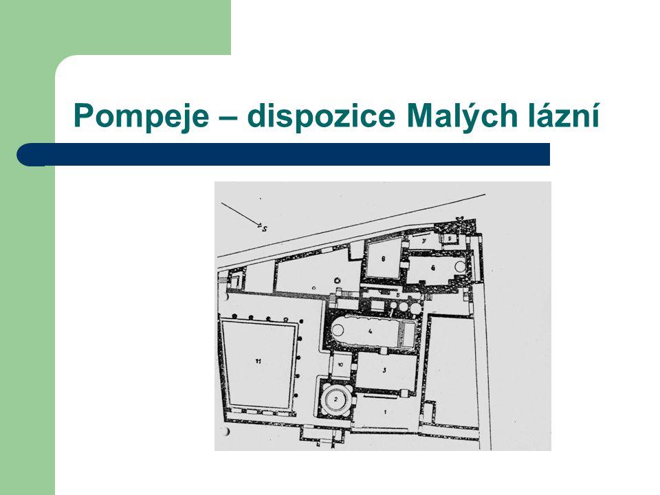 Pompeje – dispozice Malých lázní