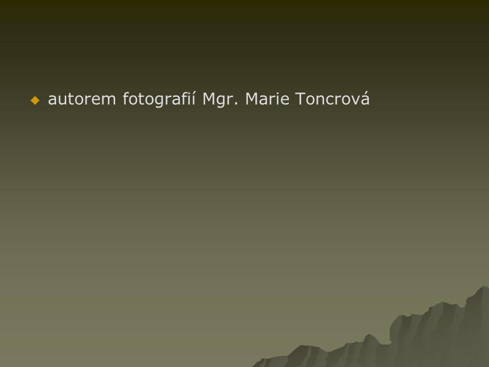 autorem fotografií Mgr. Marie Toncrová