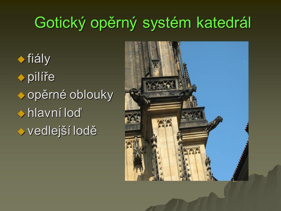 Gotický opěrný systém katedrál