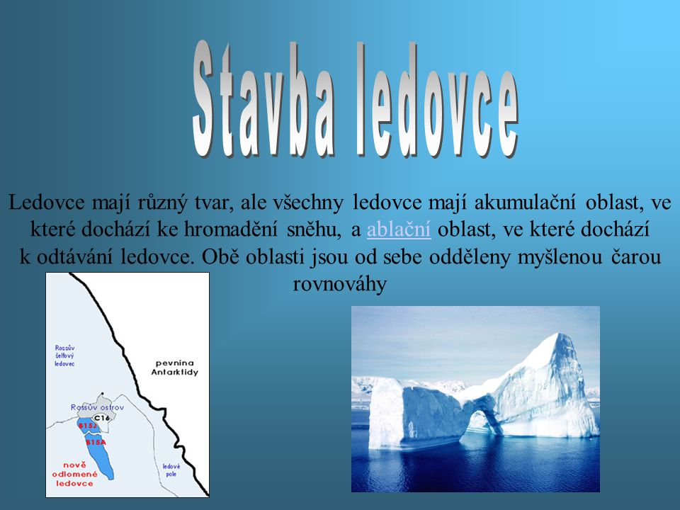 Stavba ledovce