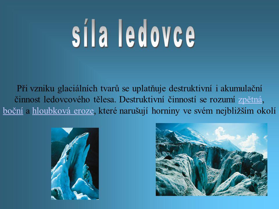 síla ledovce