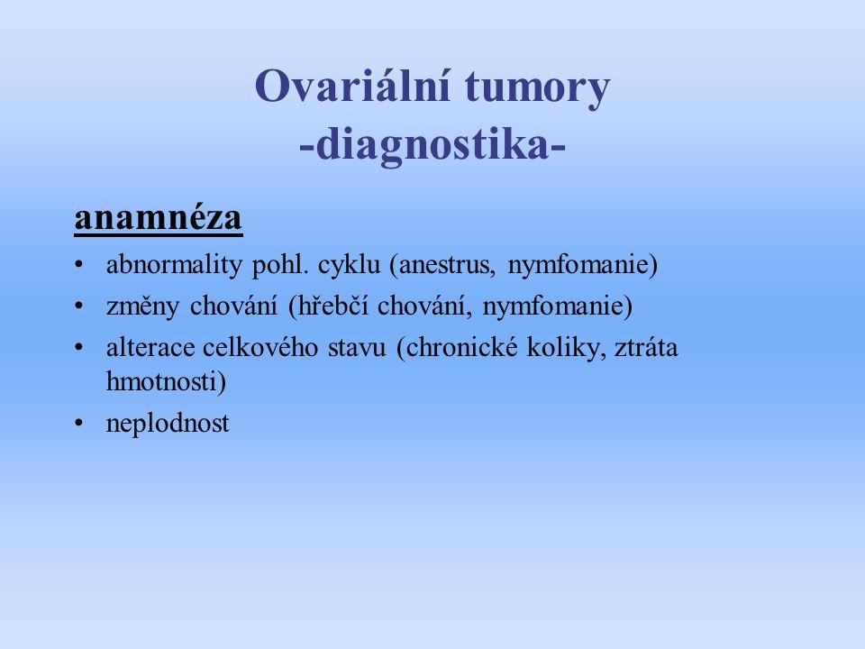 Ovariální tumory -diagnostika-