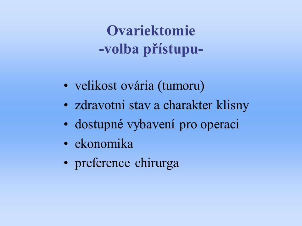 Ovariektomie -volba přístupu-