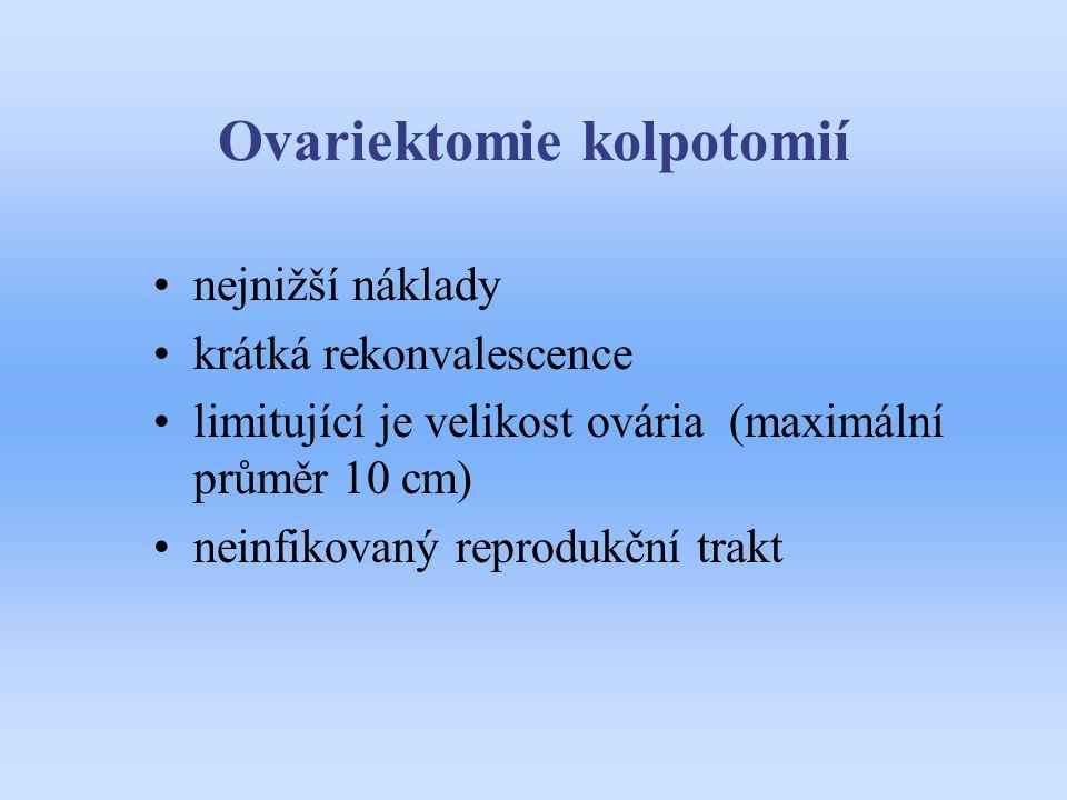 Ovariektomie kolpotomií