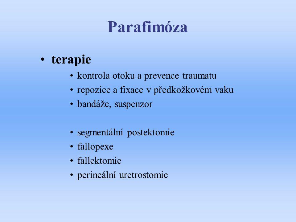 Parafimóza terapie kontrola otoku a prevence traumatu