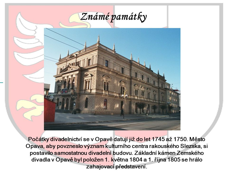 Známé památky Slezké divadlo