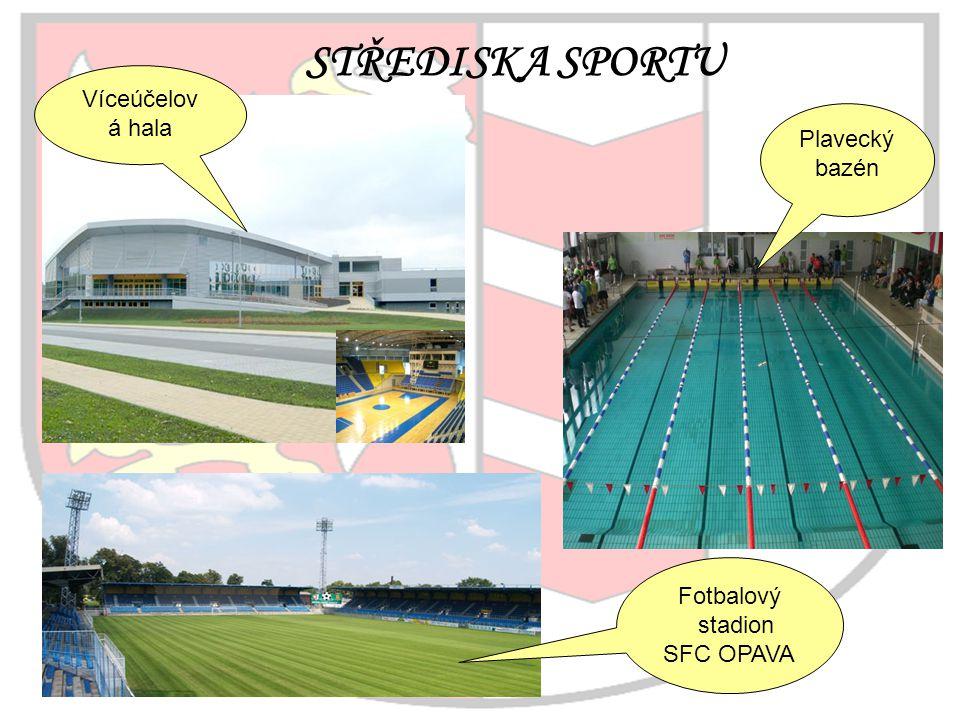 STŘEDISKA SPORTU Víceúčelová hala Plavecký bazén Fotbalový stadion