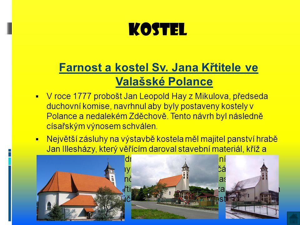 Farnost a kostel Sv. Jana Křtitele ve Valašské Polance