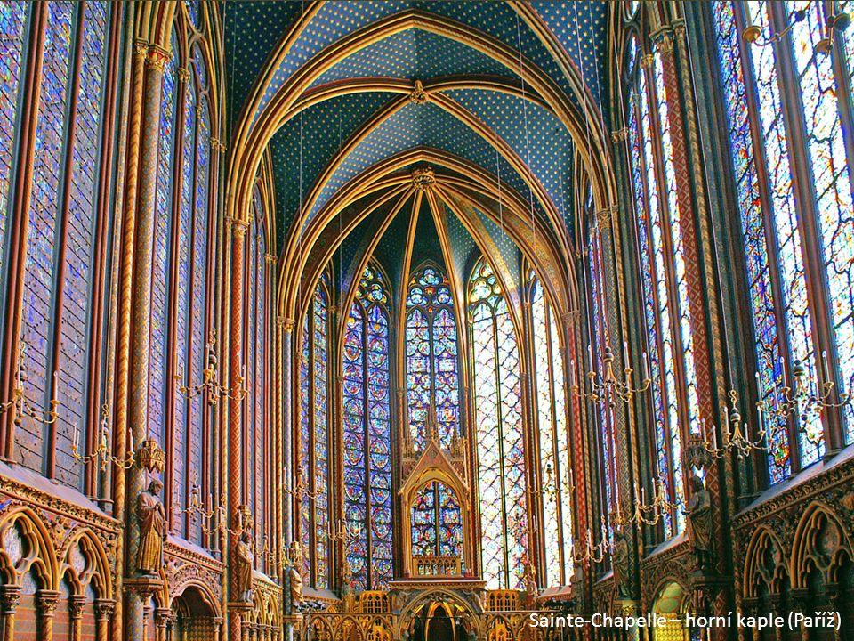 Sainte-Chapelle – horní kaple (Paříž)