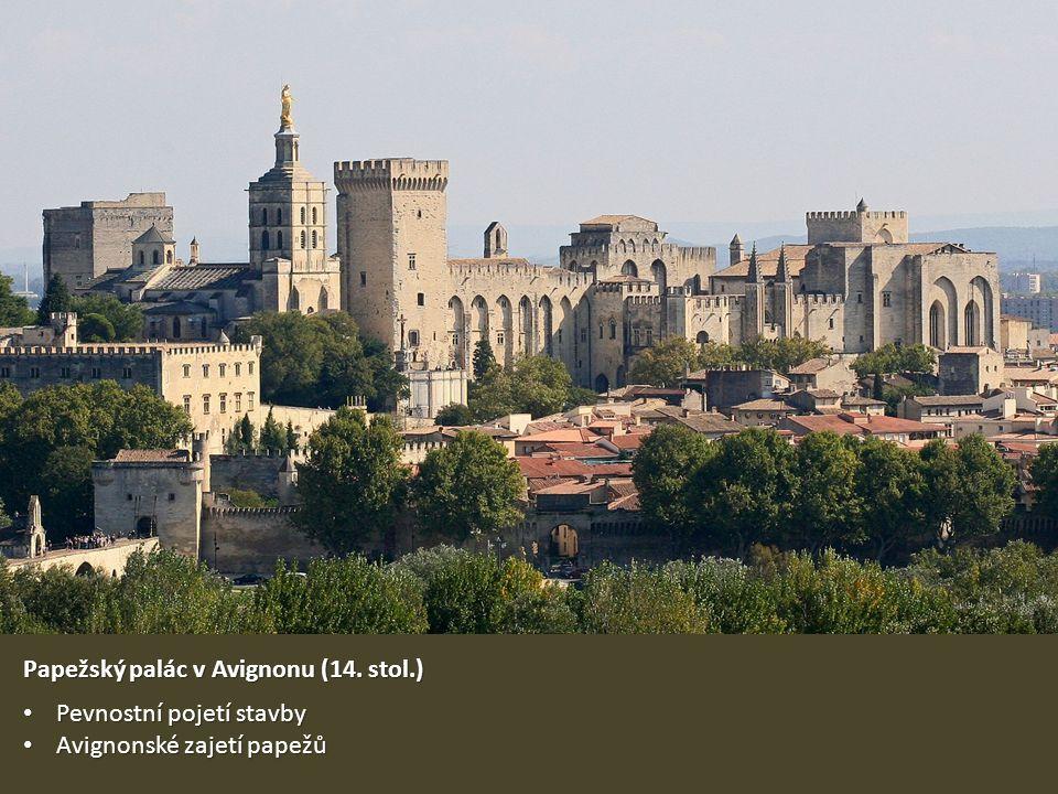 Papežský palác v Avignonu (14. stol.)