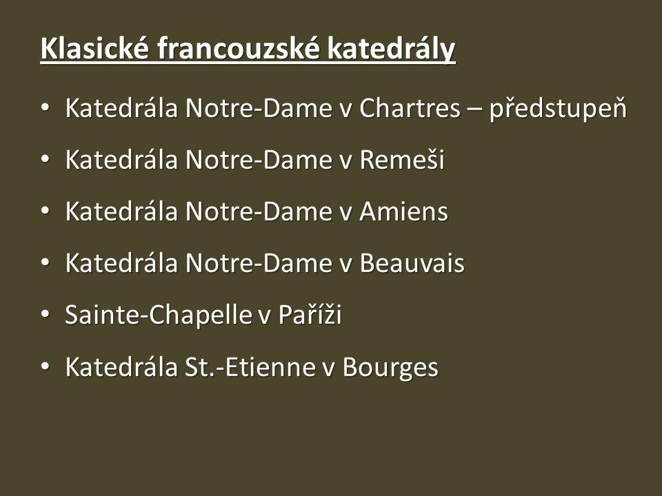 Klasické francouzské katedrály