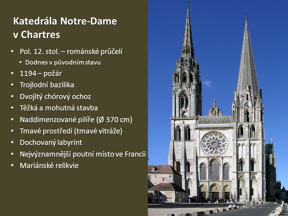 Katedrála Notre-Dame v Chartres