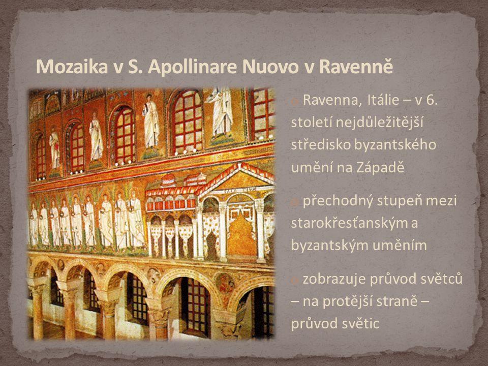 Mozaika v S. Apollinare Nuovo v Ravenně