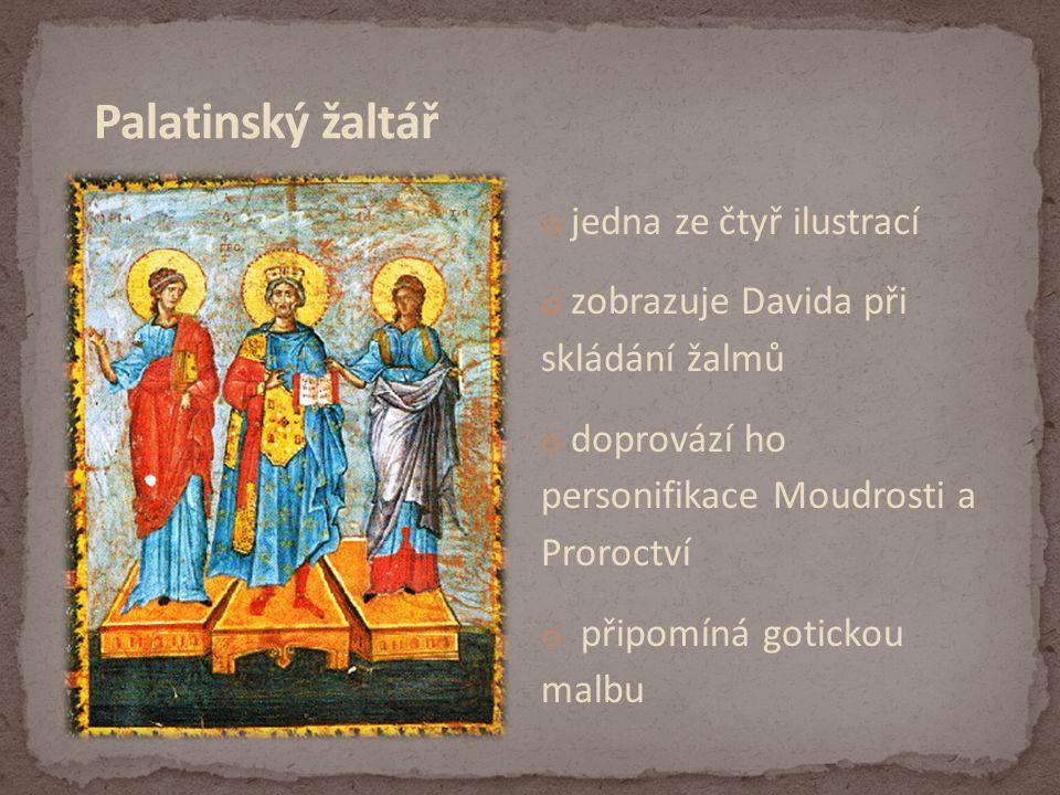 Palatinský žaltář jedna ze čtyř ilustrací