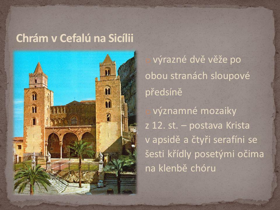 Chrám v Cefalú na Sicílii