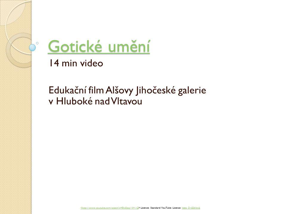 Gotické umění 14 min video