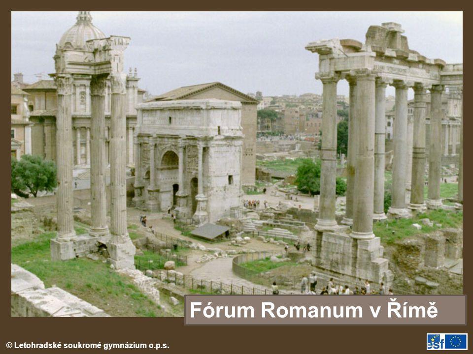 Fórum Romanum v Římě