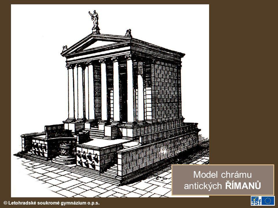 Model chrámu antických ŘÍMANŮ