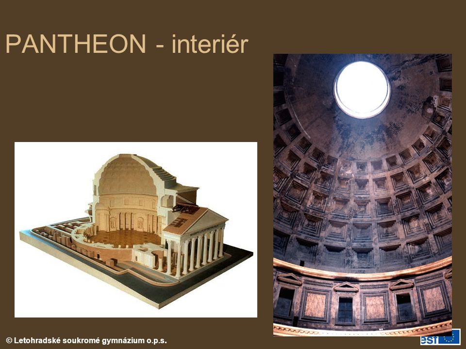 PANTHEON - interiér