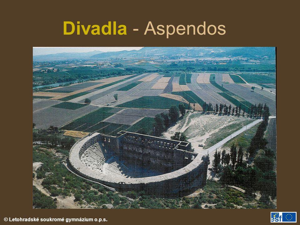 Divadla - Aspendos