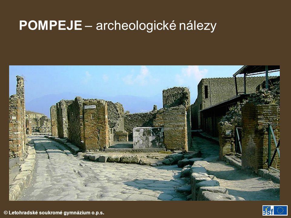 POMPEJE – archeologické nálezy
