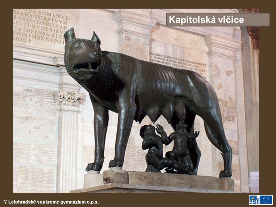 Kapitolská vlčice Kapitolská vlčice = symbol Říma.